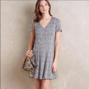 Anthropologie Dolan Heather Ribbed Flare Dress